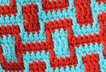 Crochet - couleurs / Motifs bicolores et multicolores au crochet