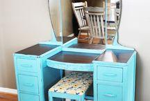 Retro furniture / Ideas for painting retro furniture