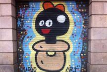 Barcelona Streetart / Streetart in Barcelona