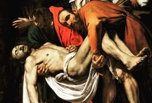Happy Easter  Entombment of Christ. Taking Jesus down from the Cross, Caravaggio, 1602-1603