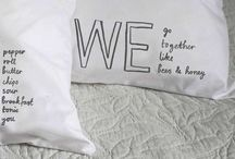 L*O*V*E & Valentine's Day / Romantic gifts don't need to be tacky! Here are some really lovely and tasteful items with a hint of loveydoveyness! x  Make someone feel special on Valentine's day.  #cushions #prints #pillowcases