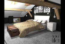 Projekt wnętrza loftowego w Międzyzdrojach / http://www.lillet.pl/