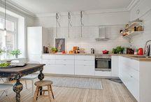 Scandinavian flate with vintage