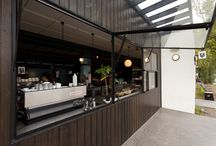 St Ali North Cafe / WOW Architectural worked closely with the builder to allow construction to move ahead of the traditional sequence by installing a set of steel sub-frames on site that ensured the millimetre-accuracy required for installing steel doors was met. St Ali Café.