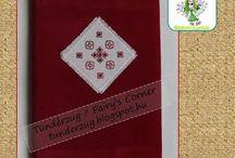 Diary Cover / Tündérzug nevű blogom hímzett borítójú naplói. A bemutatott hímzésminták saját tervezésűek. Használjátok nyugodtan, de kérem, hogy osszatok meg forrásként! Köszönöm! This collection contains diary covers, I made. On the charts you can see my own blackwork designs. Feel free to use, however, please, respect my work with name me, as your source! Thank you!