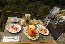 Restaurante El Mirador / Disfruta de nuestra comida internacional y de nuestros mejores platillos típicos de la gastronomía de la tierra del Huapango. Combina los alimentos y bebidas con panorámicas espectaculares en la cima de la cascada y con una espectacular vista del cañón.