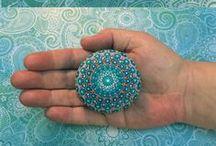Mandala Stone, Shell&Canvas