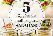 cinco opções de molho p/ salada