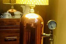 lámpara botella ácido