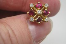 dimond ruby earrings