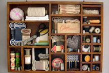 assemblage and printer drawers / by Monica Elbert Salter