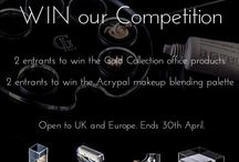 Competition - Gold Collection office products & Acrypal makeup blending palette Giveaway / We have a new Giveaway where we offer our lucky followers the chance to win the newest Gold Collection office products & the Acrypal makeup blending palette.  Two entrants will win the Gold Collection office products – where each winner will receive 4 products – paper tray/mini tape dispenser/stapler and pencil cup. And 2 entrants will win the Acrypal makeup blending palette!
