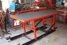 motorcycle lift/shop table