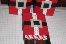 Cajas,  etiquetas y empaques de Navidad