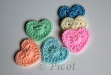 Szydełkowe Serca Crochet Hearts