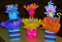 Centros de mesa piñatas