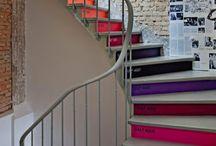 Escaleras decoradas