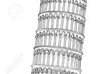 Architektura - kresba, perspektiva, omalovánky