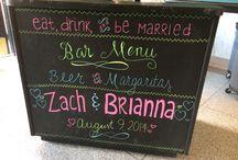 Chalkboard wedding bar / by Monica Self - Arnett