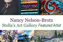 Nancy Nelson Brotz / Nancy is a jack of all trade! She can draw, paint, sculpt, and collage. You can find more of her work at www.StellasArtGallery.com