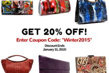 Winter 2015 New Arrivals! / New handbags and bags!