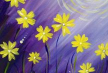 Paint nite / Spring blossoms