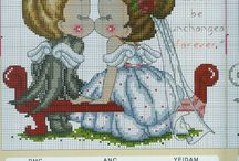 wedding crosstitch