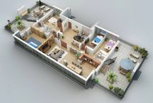 Floor plans. Four bedrooms