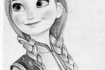 frozen drawings