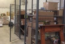 Used Security Cages & Wire Enclosures / Used wire enclosures and used wire fencing assist in preventing pilferage without preventing air circulation and visibility. They provide secure wire enclosing for tool rooms, valuable parts storage, and special machine components.