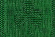 St. Patrick's Day Knitting Patterns / green knitting patterns, St. Patrick's Day knitting patterns, easy knitting patterns, free knitting patterns / by AllFreeKnitting