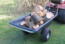 ATV quad bike trailer, lawn trailer, garden trailer, smallholder trailer, tipping trailer / Trailers designed to be towed using vehicles such as ATV quad bikes, compact tractors, ride-on lawnmowers  and UTVs for loading and transporting.