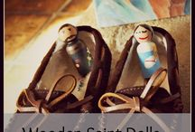 Wooden Saint Dolls