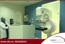Mammography unit at University Hospital Sharjah (UHS) / Research has shown that routine mammography detects 40 percent of cancers not found by physical examination, thus reducing the death rate from breast cancer by 30 percent.