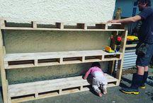 Shelf out of pallets