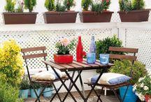 Balkón a zahrada