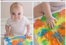 beschäftigen mit baby/kind