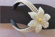 chinelos flor