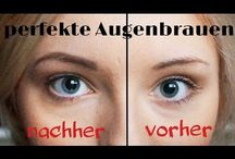 Augenbrauen Vorher/Nachher