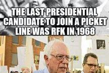 Bernie & BLUE - vote people! / Feeling the BERN!?