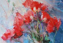 Flowers in Art / Flowers in Art ✿ https://www.catherinelarosepoesiaearte.com/