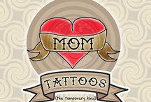 Funny Temporary Tattoos / Funny temporary tattoos for parties, photo shoots, or just because! #funny #temporary #tattoos