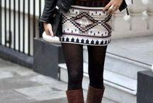 jersey knit tribal skirt