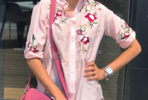 Embroidered shirt with denims