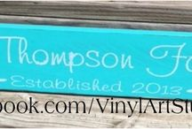 Personalized Family Name Boards / Great gift item for those hard to buy for folks in your life. Personalized gifts are always nice.