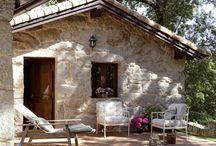 cases de camp; exteriors