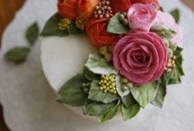 květiny dort