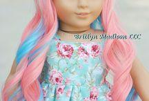 american girll doll met roze haren