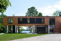 Enchanted Island Residence I Peterssen/Keller Architecture / Built for clients who wanted a modern house that would take advantage of lake views in every direction and expansive openness, P/K designed the house with an aperture for viewing the lake and surrounding woods. An award winning home, Enchanted Island was featured on the 2013 AIA Homes by Architects Tour, the September issue of Architecture Minnesota, and in a spread in the September/October issue of Midwest Home.
