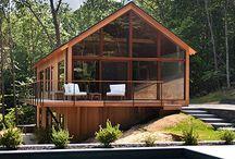 Case moderne legno